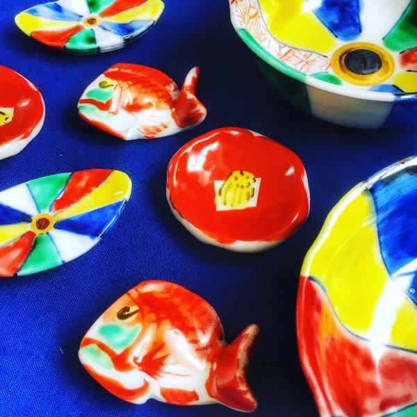 九谷焼の名窯「須田青華」の小鉢&箸置き♪