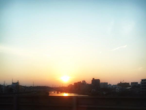 新幹線の車窓からパチリ。